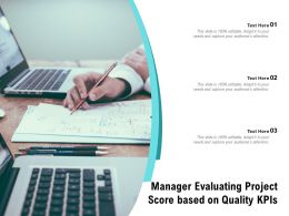 Manager Evaluating Project Score Based On Quality KPIS