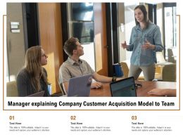 Manager Explaining Company Customer Acquisition Model To Team