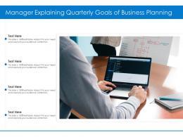 Manager Explaining Quarterly Goals Of Business Planning