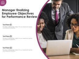 Manager Finalizing Employee Objectives For Performance Review