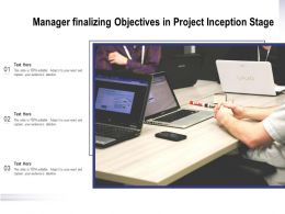 Manager Finalizing Objectives In Project Inception Stage