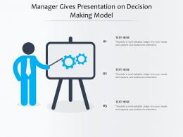 Manager Gives Presentation On Decision Making Model