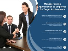 Manager Giving Appreciation To Employee For Target Achievement