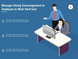 Manager Giving Encouragement To Employee To Work Hard Icon