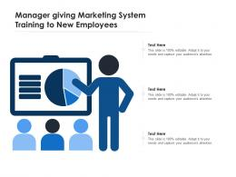 Manager Giving Marketing System Training To New Employees