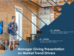 Manager Giving Presentation On Market Trend Drivers