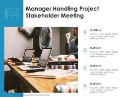 Manager Handling Project Stakeholder Meeting