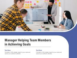 Manager Helping Team Members In Achieving Goals