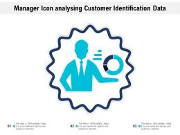 Manager Icon Analysing Customer Identification Data