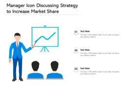 Manager Icon Discussing Strategy To Increase Market Share