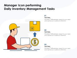 Manager Icon Performing Daily Inventory Management Tasks