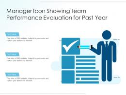 Manager Icon Showing Team Performance Evaluation For Past Year