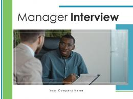 Manager Interview Candidates Specifying Product Academic Process Completion