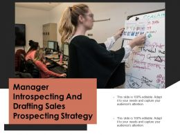 Manager Introspecting And Drafting Sales Prospecting Strategy