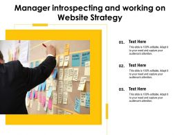 Manager Introspecting And Working On Website Strategy