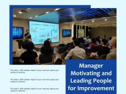 Manager Motivating And Leading People For Improvement