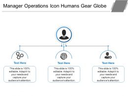 Manager Operations Icon Humans Gear Globe