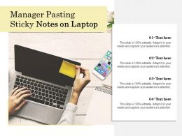Manager Pasting Sticky Notes On Laptop