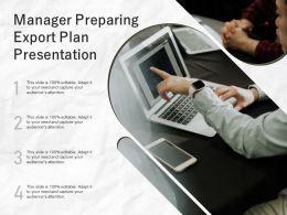 Manager Preparing Export Plan Presentation