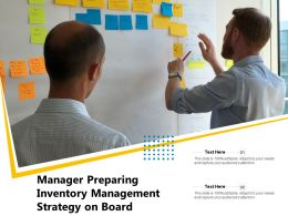 Manager Preparing Inventory Management Strategy On Board