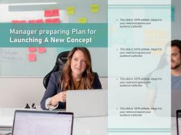 Manager Preparing Plan For Launching A New Concept