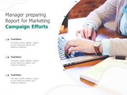 Manager Preparing Report For Marketing Campaign Efforts