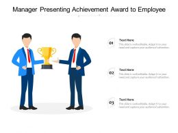 Manager Presenting Achievement Award To Employee