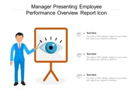 Manager Presenting Employee Performance Overview Report Icon