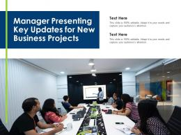 Manager Presenting Key Updates For New Business Projects