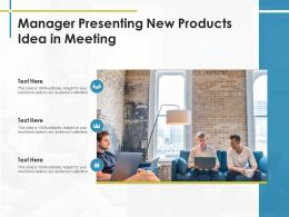 Manager Presenting New Products Idea In Meeting