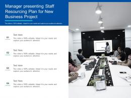 Manager Presenting Staff Resourcing Plan For New Business Project