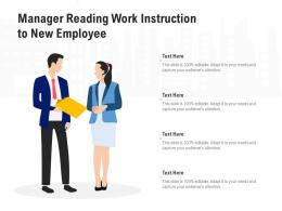 Manager Reading Work Instruction To New Employee