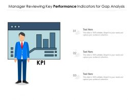 Manager Reviewing Key Performance Indicators For Gap Analysis