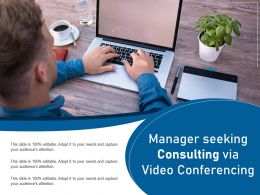 Manager Seeking Consulting Via Video Conferencing