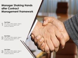 Manager Shaking Hands After Contract Management Framework