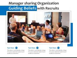 Manager Sharing Organization Guiding Beliefs With Recruits