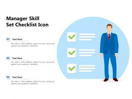 Manager Skill Set Checklist Icon