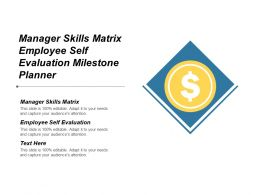 Manager Skills Matrix Employee Self Evaluation Milestone Planner Cpb