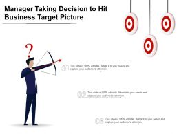 Manager Taking Decision To Hit Business Target Picture