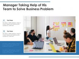 Manager Taking Help Of His Team To Solve Business Problem
