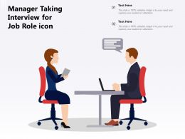 Manager Taking Interview For Job Role Icon