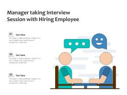 Manager Taking Interview Session With Hiring Employee