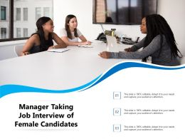 Manager Taking Job Interview Of Female Candidates