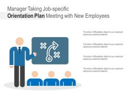 Manager Taking Job Specific Orientation Plan Meeting With New Employees