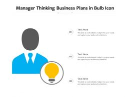 Manager Thinking Business Plans In Bulb Icon
