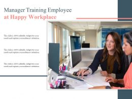 Manager Training Employee At Happy Workplace
