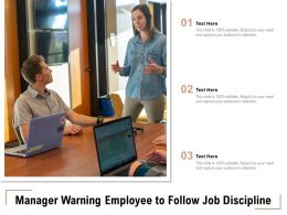 Manager Warning Employee To Follow Job Discipline