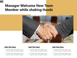 Manager Welcome New Team Member While Shaking Hands