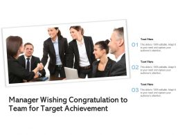 Manager Wishing Congratulation To Team For Target Achievement