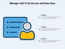 Manager With To Do List Icon And Three Lines
